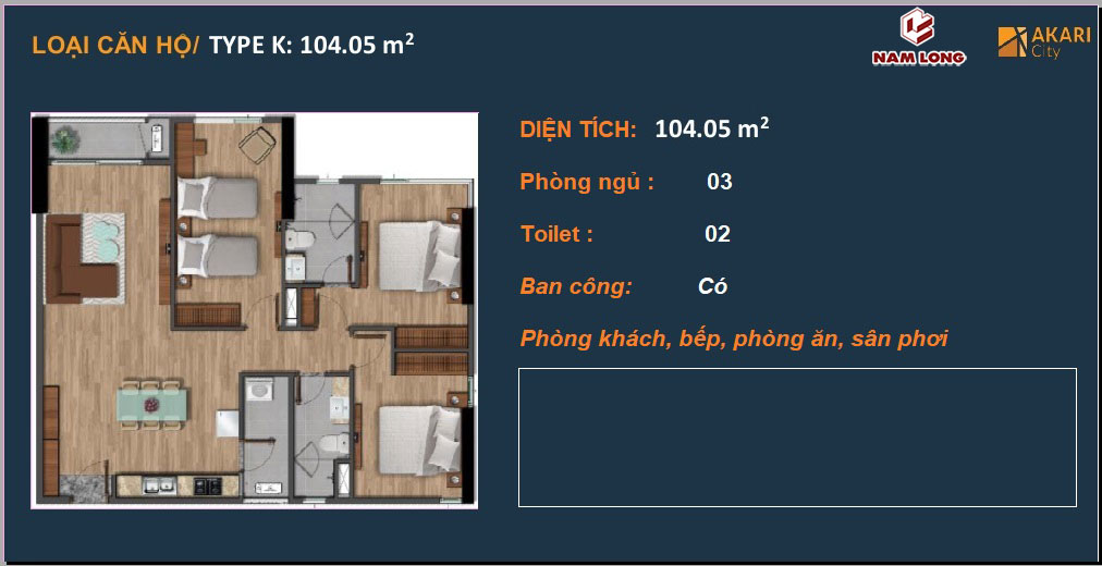Akari City Can Ho Nam Long Binh Tan 104m2