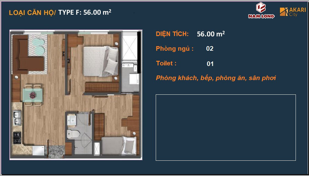 Akari City Can Ho Nam Long Binh Tan 56m2