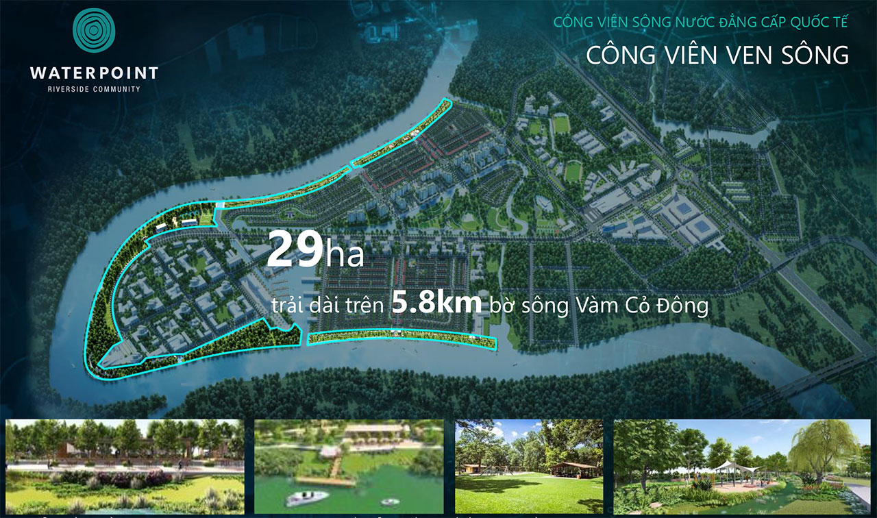 Cong-Vien-Ven-Song Du An Waterpoint Long An